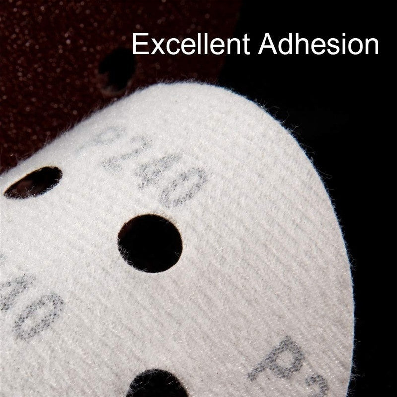 20 PCS 5 Inch 8 Hole Hook and Loop Adhesive Sanding Discs Sandpaper for Random Orbital Sander 60 - 2000 Grits