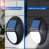 1/2/4 Units 600LM 10 Solar LED Lamps Garden Path Outdoor Security Wall Lighting Street Light IP65 Waterproof PIR Motion Sensor