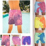 Novelty encounter water changes color beach pants Men's fast-drying swimming trunks temperature sensing change color shorts