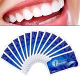 14Pcs / 7 pairs of 3D advanced tooth whitening strips to remove stains, used for oral hygiene cleaning, double elastic dental bleach strips