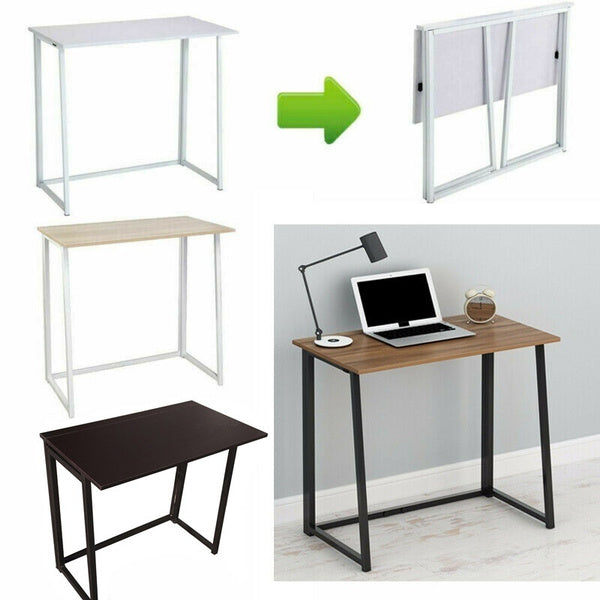 3 Colors Small Foldable Computer Desk Folding Laptop PC Table Home Office Study Gaming Desk