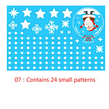13 models Christmas Snowflake Window Cling Stickers for Glass Xmas Decals Decorations