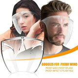 New Adults Clear Dust-proof Face Shield Splash-proof Combine Reusable Plastic For Men, Women and The Deaf Transparent Safety Full Face  Visor