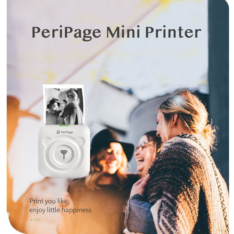 PeriPage Mini Portable Thermal Printer Paper Photo Pocket Thermal Printer 58 Mm Printing Wireless Bluetooth Android IOS Printers