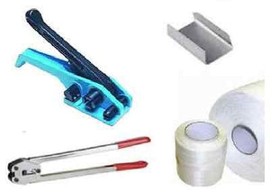 Complete Strapping, Banding, Wrapping Kit - Sealing Machine, Tensioner, Clamps 12mm