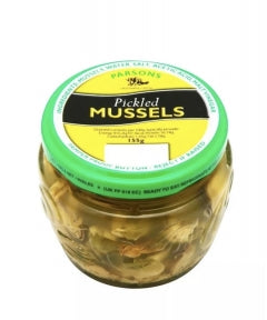 12 x 155g Jars Parsons Welsh Pickled Mussels