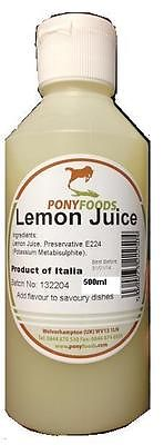 500 ml Lemon Juice - takeaway sauce kebab shops BBQ burger van Machine Chippy