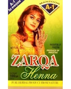 5 X 100g Packs Zarqa Henna