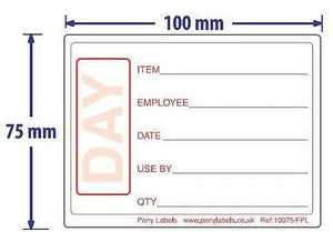 "1000 Food Preparation Labels 4"" x 3"" Roll"