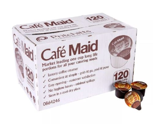 120 X 12ml Pots Portions Cafe Maid Coffee Creamer