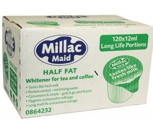 Pritchetts Milac Maid Semi Skimmed Milk Pots Box of 120 X 12ml