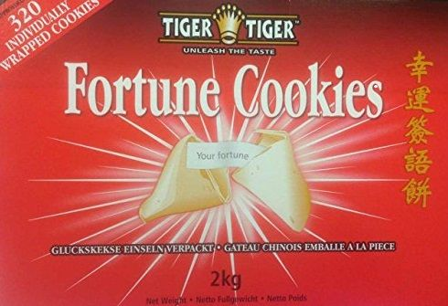 2kg Tiger Tiger Fortune Cookies - 32- Individually wrapped cookies