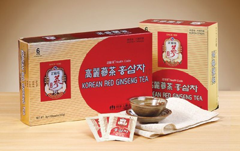 Korean Red Ginseng Tea Granules 3g x 50 root extract, Green, herbal, health drink