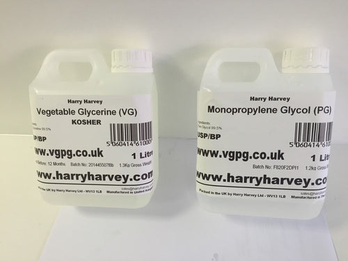 1 Litre Vegetable Glycerine VG & 1 Litres MPG Propylene GLycol