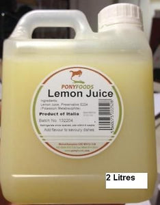 2 Litre Lemon Juice Pony Foods ingredients for takeaway sauce kebab shops 1 3 L