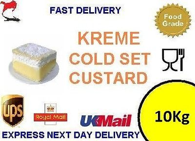 10Kg bulk Trade Bakers Cold Set Custard Powder - Cakes Egg Tarts Donuts Slices