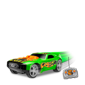 Hot Wheels Cars Mega Muscle con 2 Motores, Color Verde