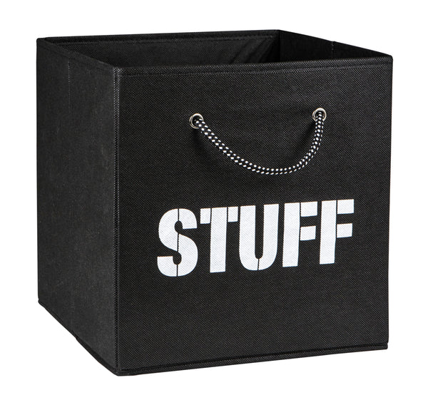 Stuff Fabric Storage Cube with Rope Handle