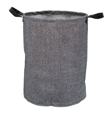 Grey Tweed Look Storage Tub