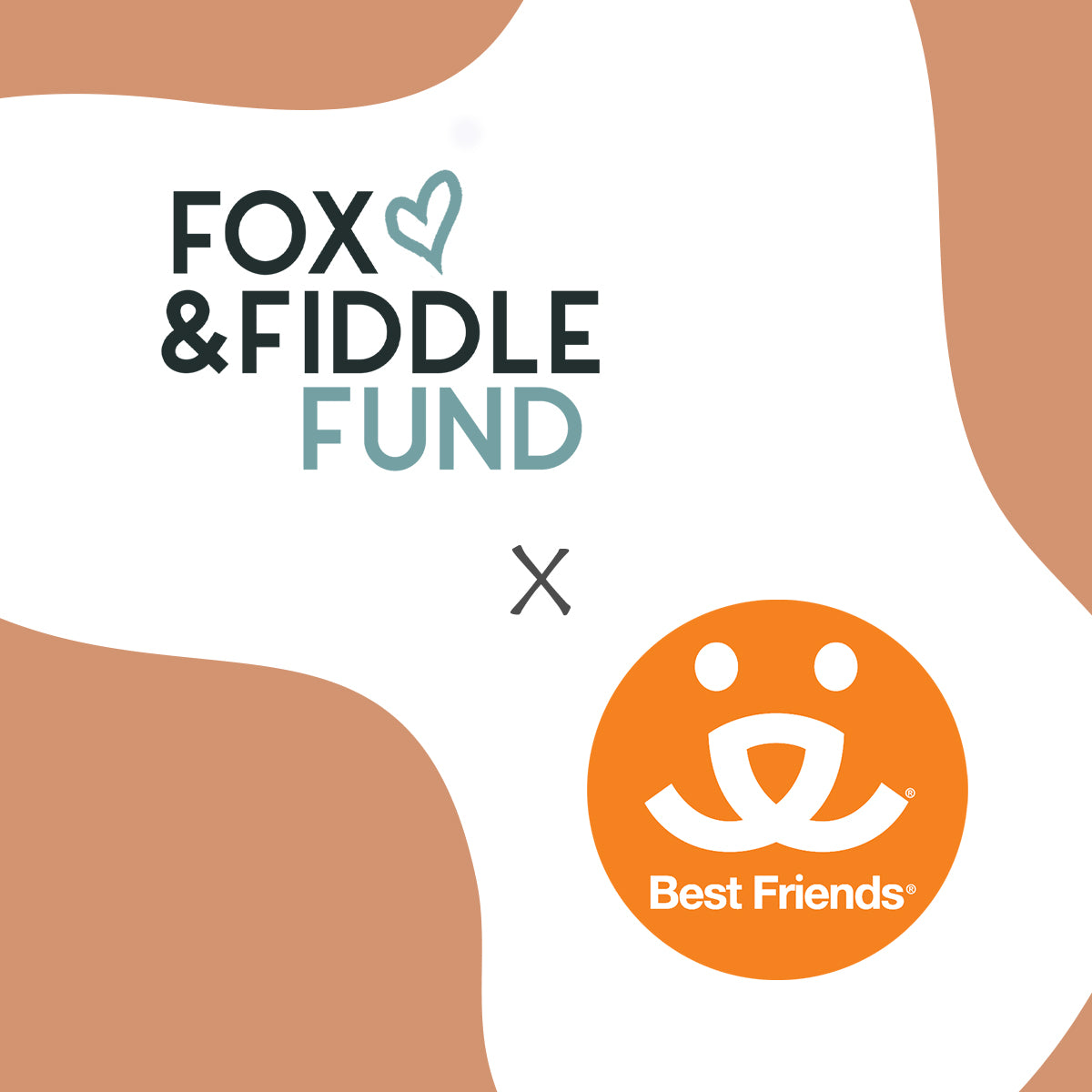 Fox & Fiddle Fund and Best Friends Animal Society philanthropy  initiative branding