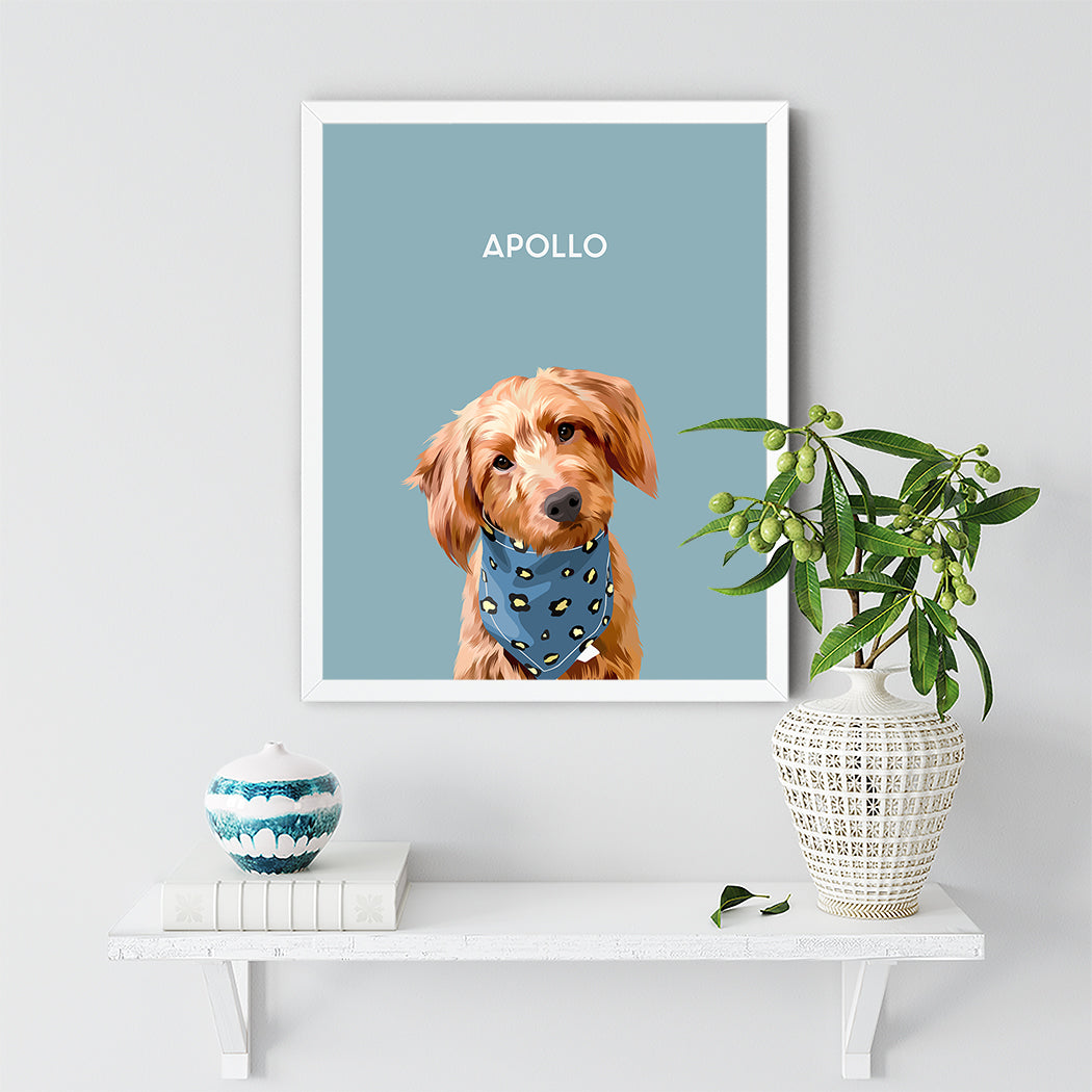 White pet portrait Frame Dog