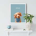 Load image into Gallery viewer, White pet portrait Frame Dog