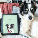 Load image into Gallery viewer, pet portrait from photo of Luke the dog