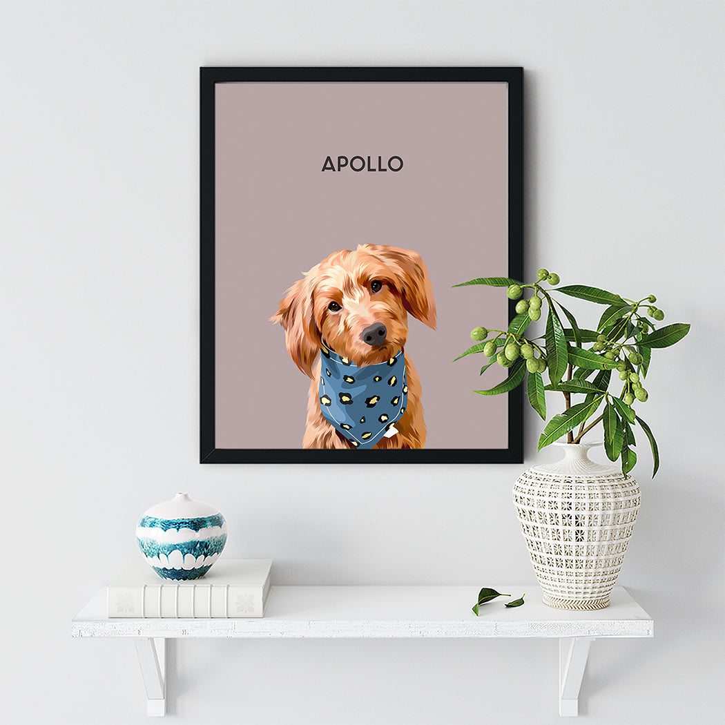 Custom Pet Portrait - Framed