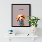 Load image into Gallery viewer, Custom Pet Portrait - Framed