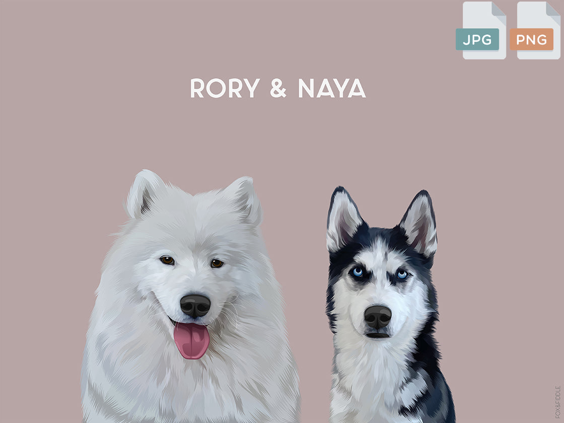 Rory & Naya Custom Dog Poster