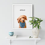 Load image into Gallery viewer, pet portrait from photo of Apollo the dog