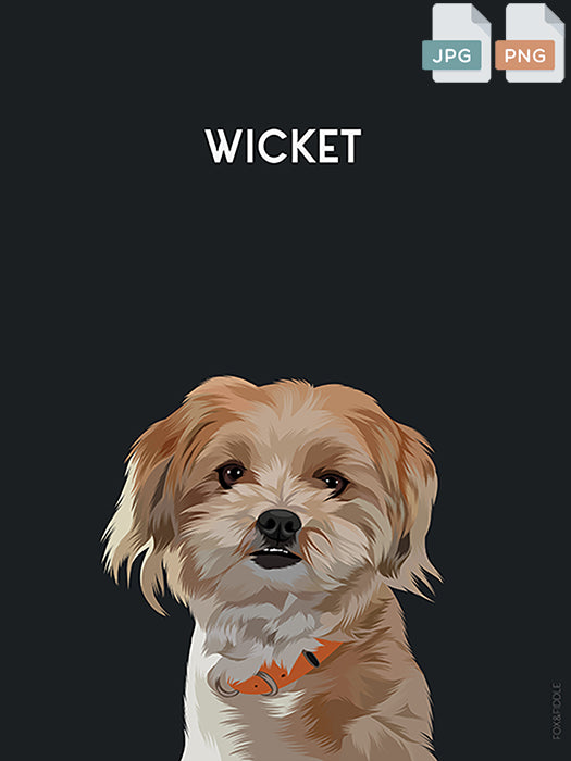 Custom Small Dog Portrait