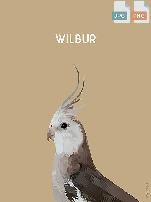 Wilbur Custom Pet Portrait