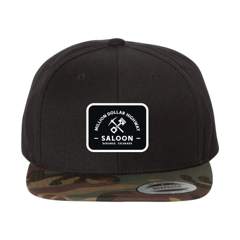 Pick & Piston Square Patch Camo Flat Bill Hat