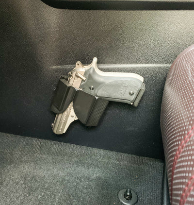 CoJo vehicle gun holster mounted