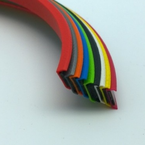 Nine rainbow coloured Rimblades Light Alloy Wheel Protectors