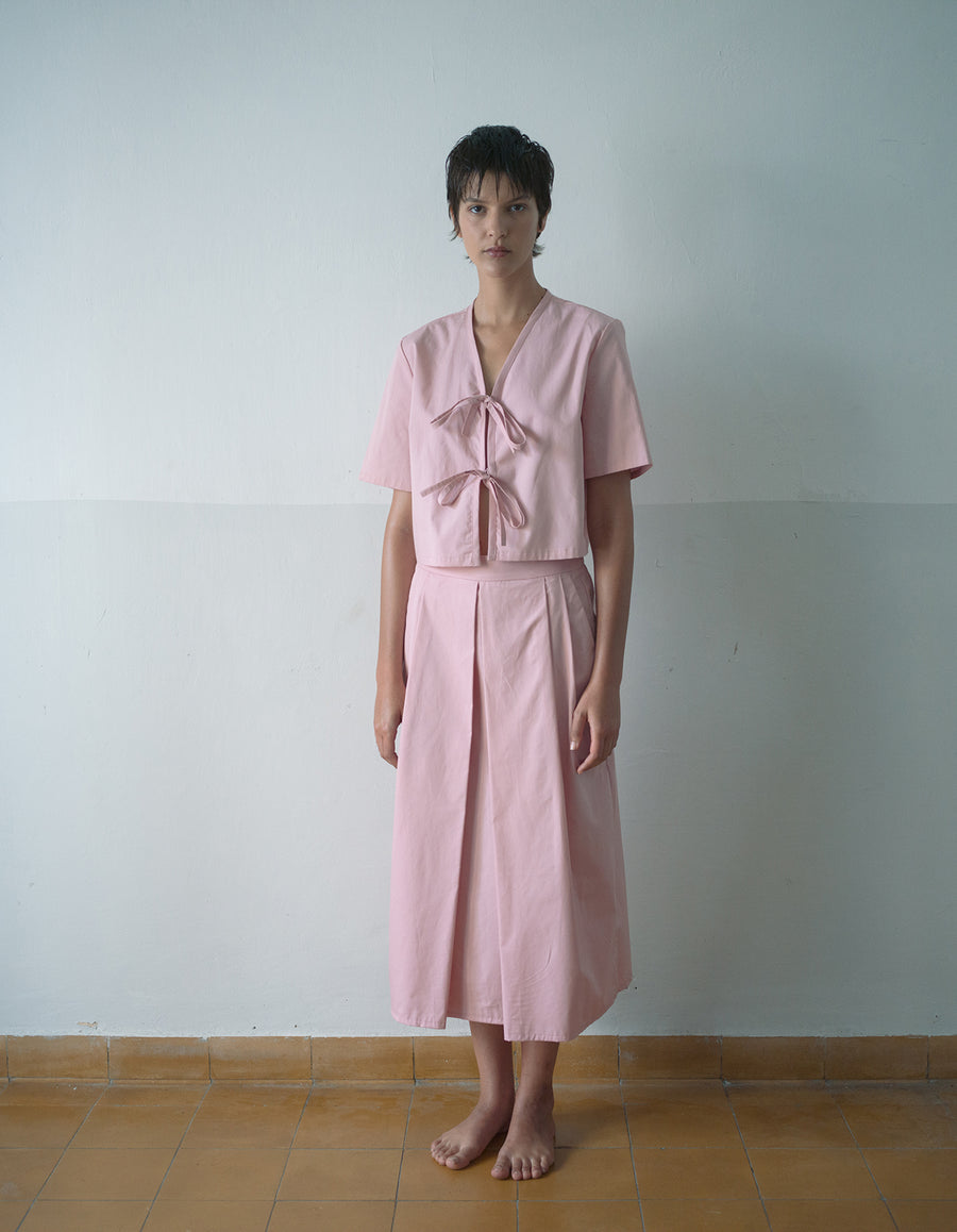 The Tailored Shirt in Pastel Pink