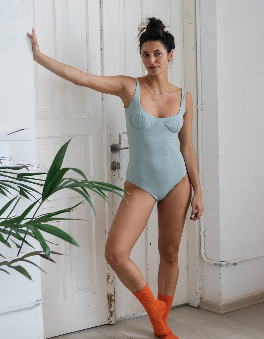 Mary One-Piece in Light Grey