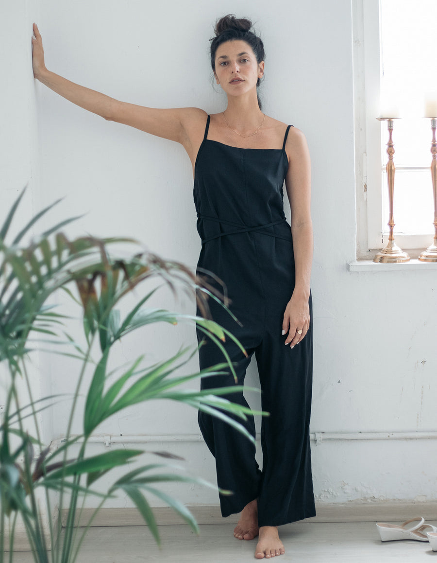 The jumpsuit in black