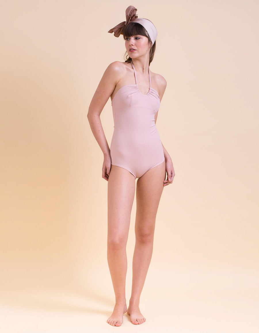 Ann light pink one-piece