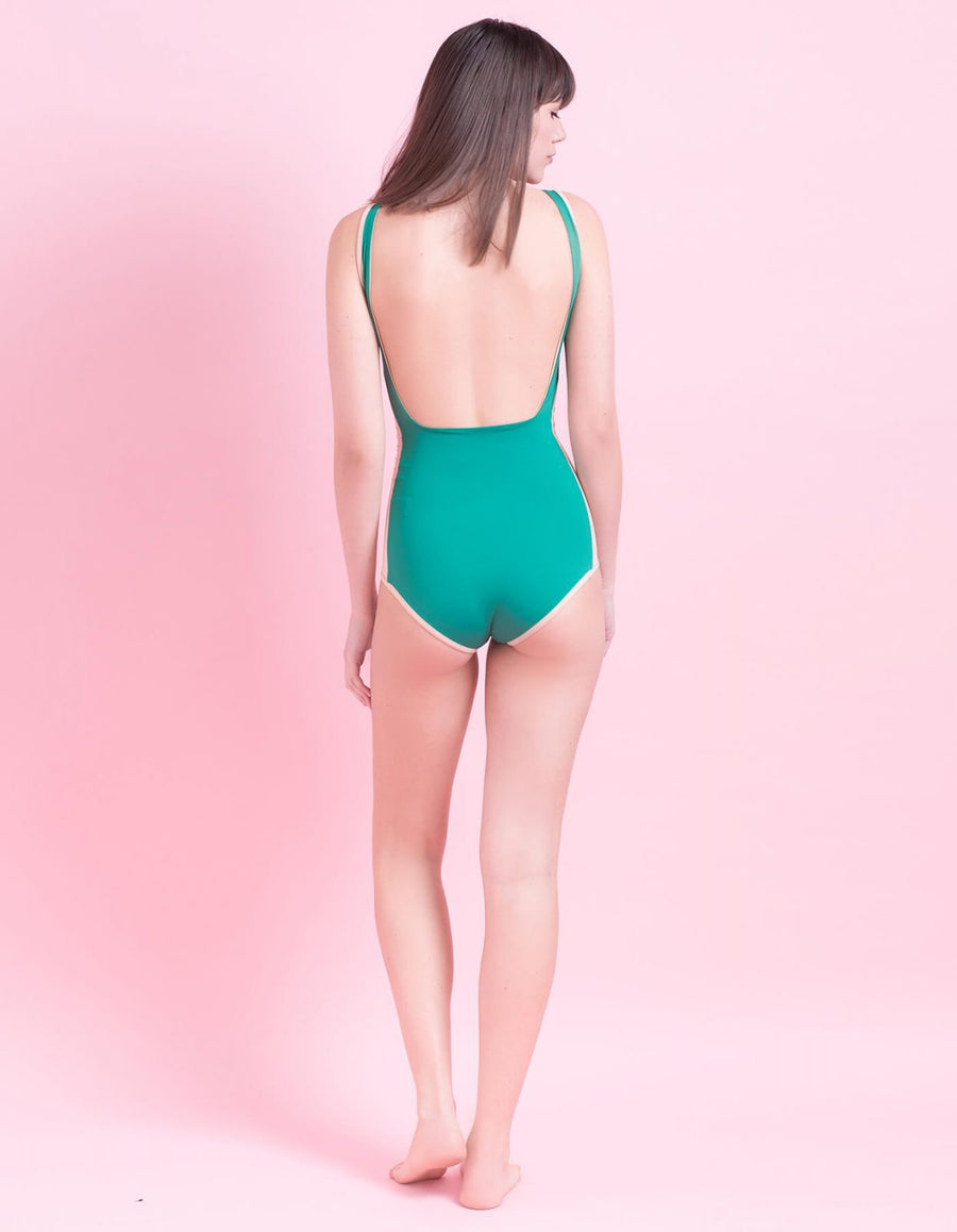 Isabel green one-piece