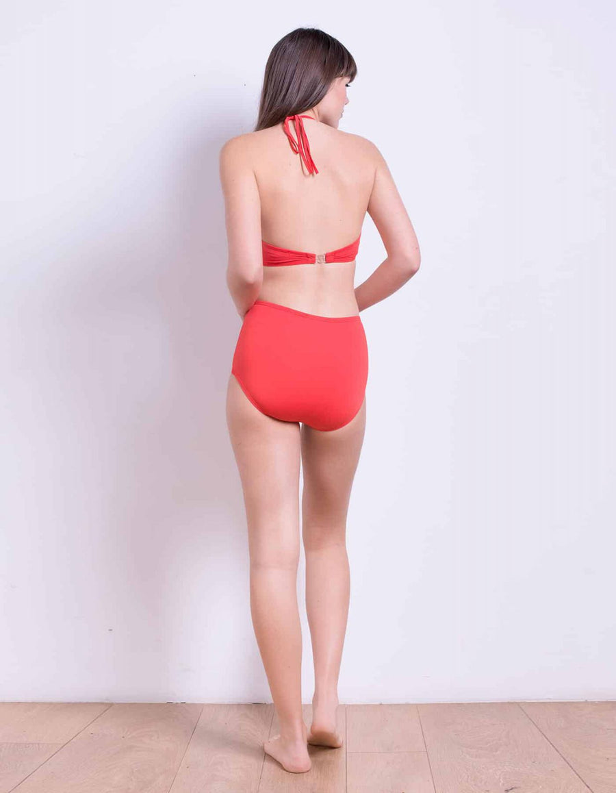 Lily top coral red