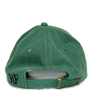 Boston Terrier Hat - Green. Vintage. Washed Cotton. Back View. Ruperto