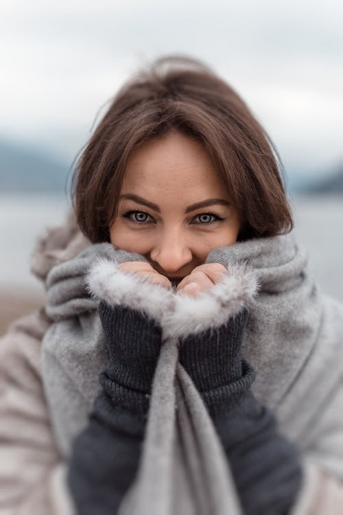 A woman wearing winter clothes.