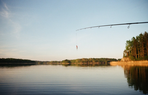 a fish on a line in Alaska