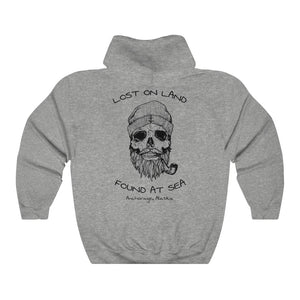 SKULL - Unisex Heavy Blend™ Hooded Sweatshirt - ANCHORAGE