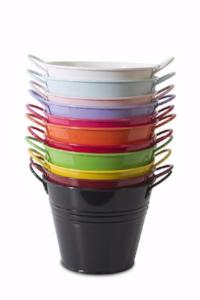 Coloured Tin Buckets