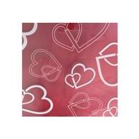 Clear Cellophane with White Hearts - 100 Sheets
