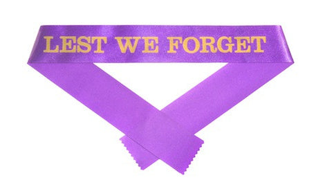 Lest We Forget Ribbons - 50mm x 80cm