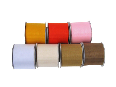 Wide Organza Ribbon 50mm Colour Range #1